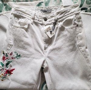 Zara wide leg high waisted jeans